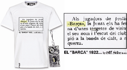 """Tshirt Barca 1922 - Asi nacio la palabra """"Barca"""""""