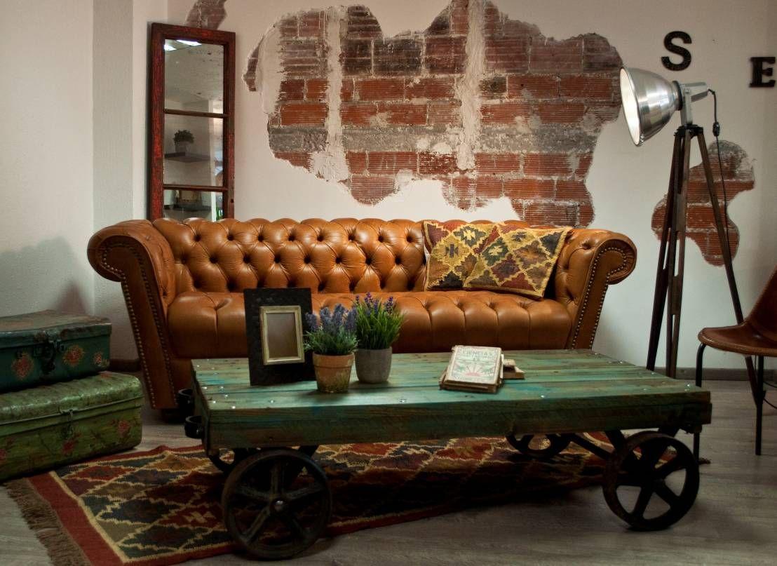 Muebles Que Necesitas Para Tu Sala Estilo Vintage Libros Y Sal N # Muebles Puro Cuero