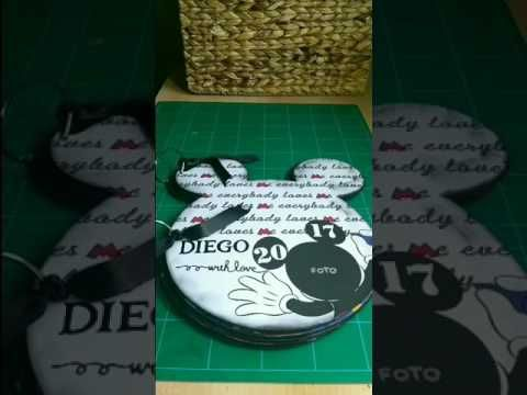 ÁLBUM SCRAP MICKEY 33x31cm. - YouTube
