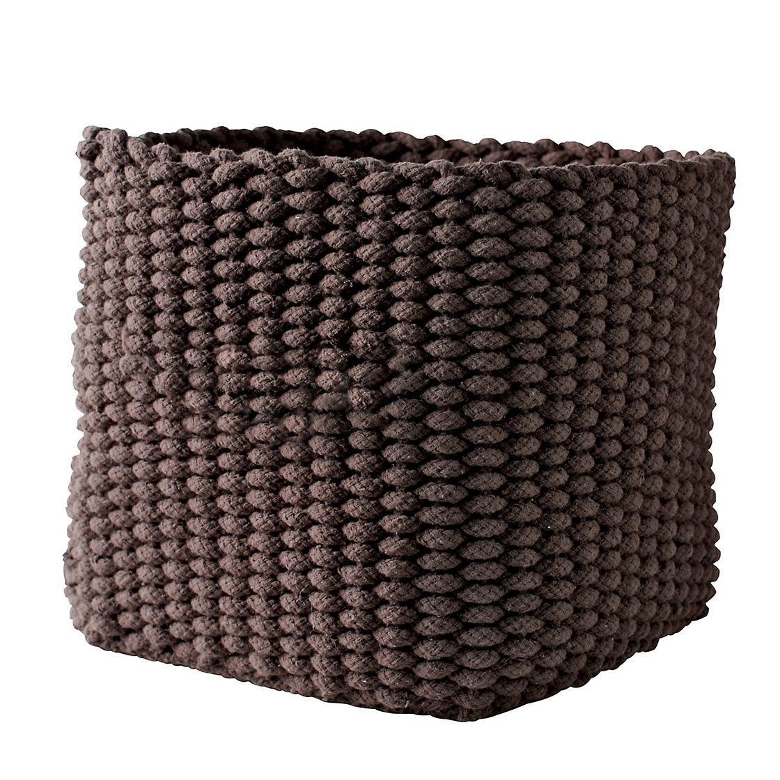 Knitted Storage Basket | The Company Store. Hand Knit Cotton Rope Basket