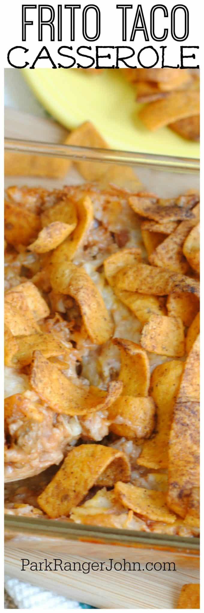 Frito Taco Casserole #casserolerecipes