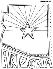 State Coloring Pages Flag Coloring Pages Arizona Flag Coloring Pages