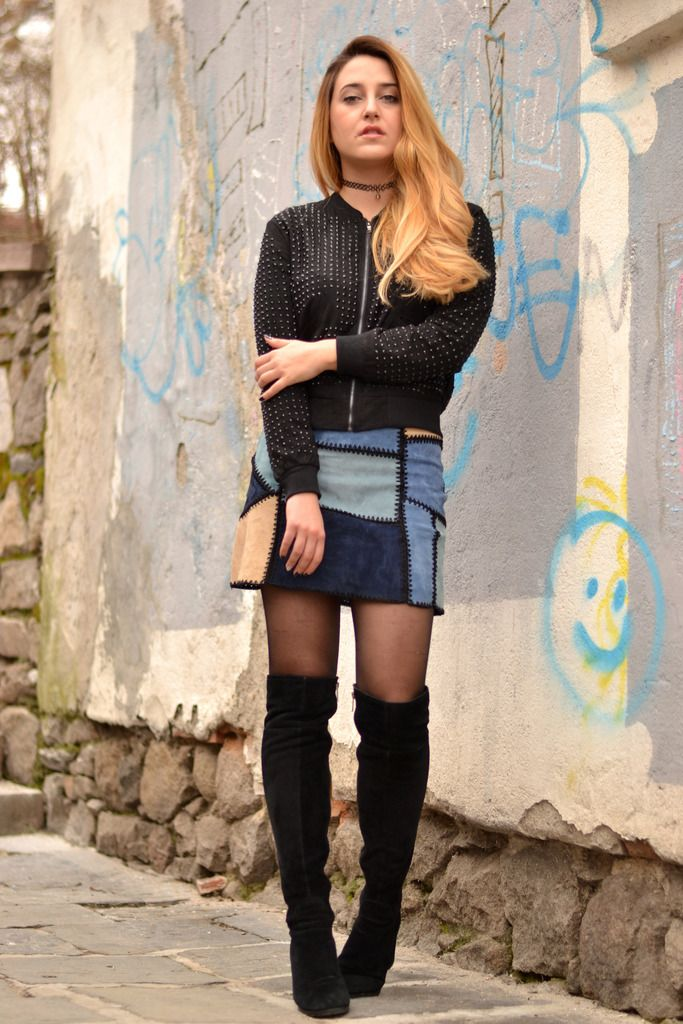 photo blue-suede-skirt-outfitBe inspired by the people in the ...