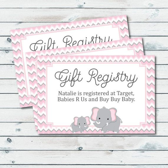 Baby Registry Cards Registry Inserts Baby By Graphicwispprints Baby Shower Gift Registry Baby Shower Registry Baby Registry Cards