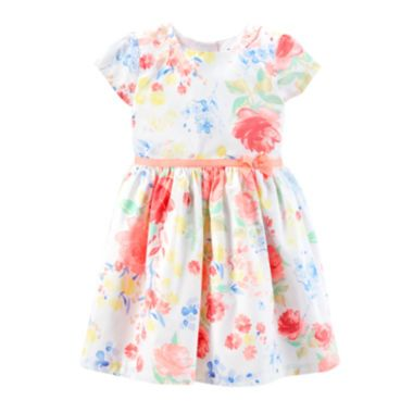 baafa606d6 Carter s® Sateen Floral Dress – Girls 2t-5t found at  JCPenney ...