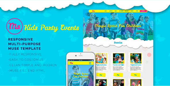 kids party events muse template by bsvit kids party events muse
