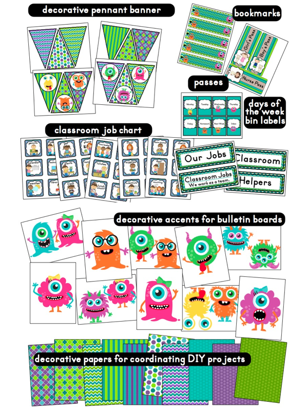 It's just a picture of Free Printable Classroom Decorations pertaining to downloadable