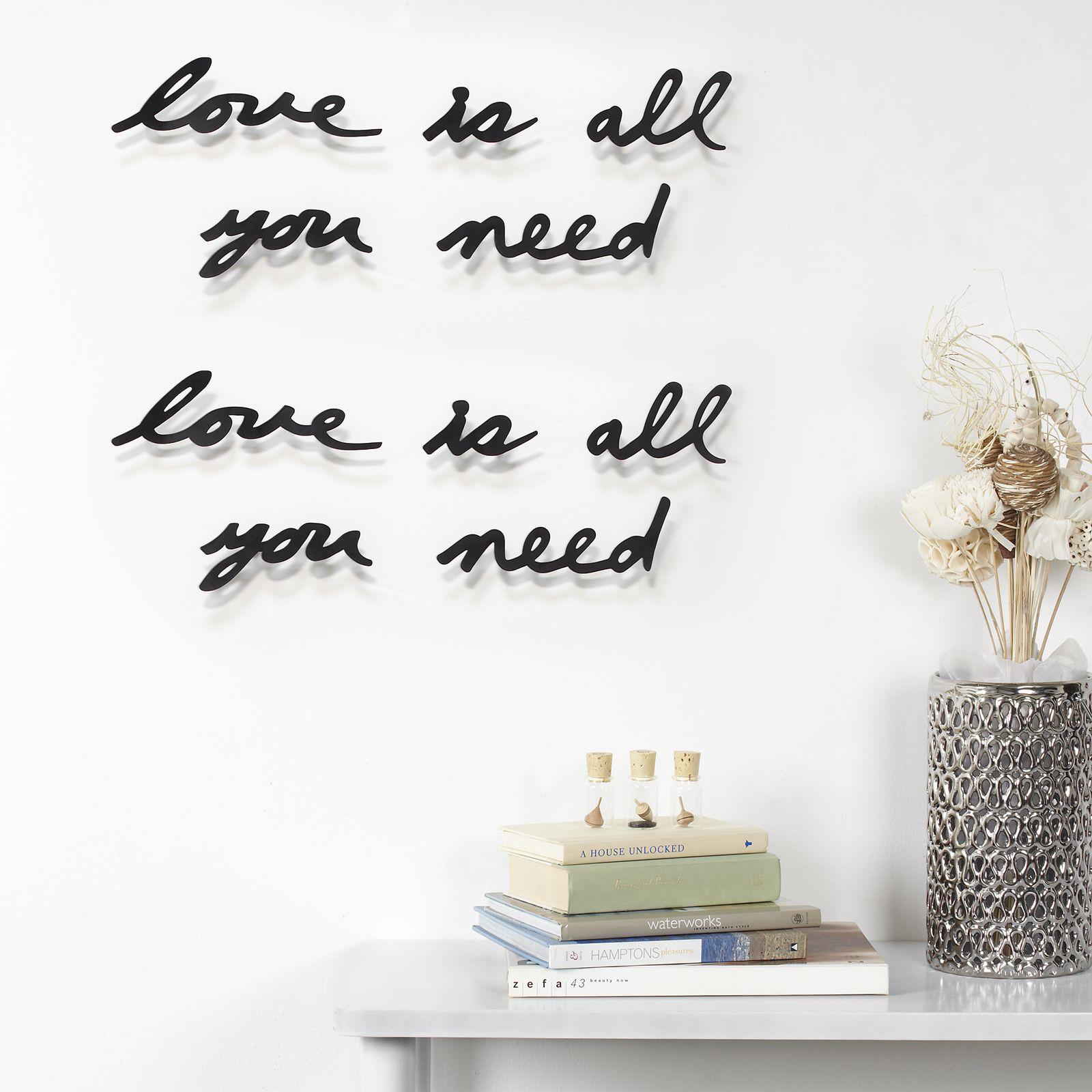Umbra Mantra Love Is All You Need Wanddecoratie Woonaccessoires Decoratie Ideeën Muur