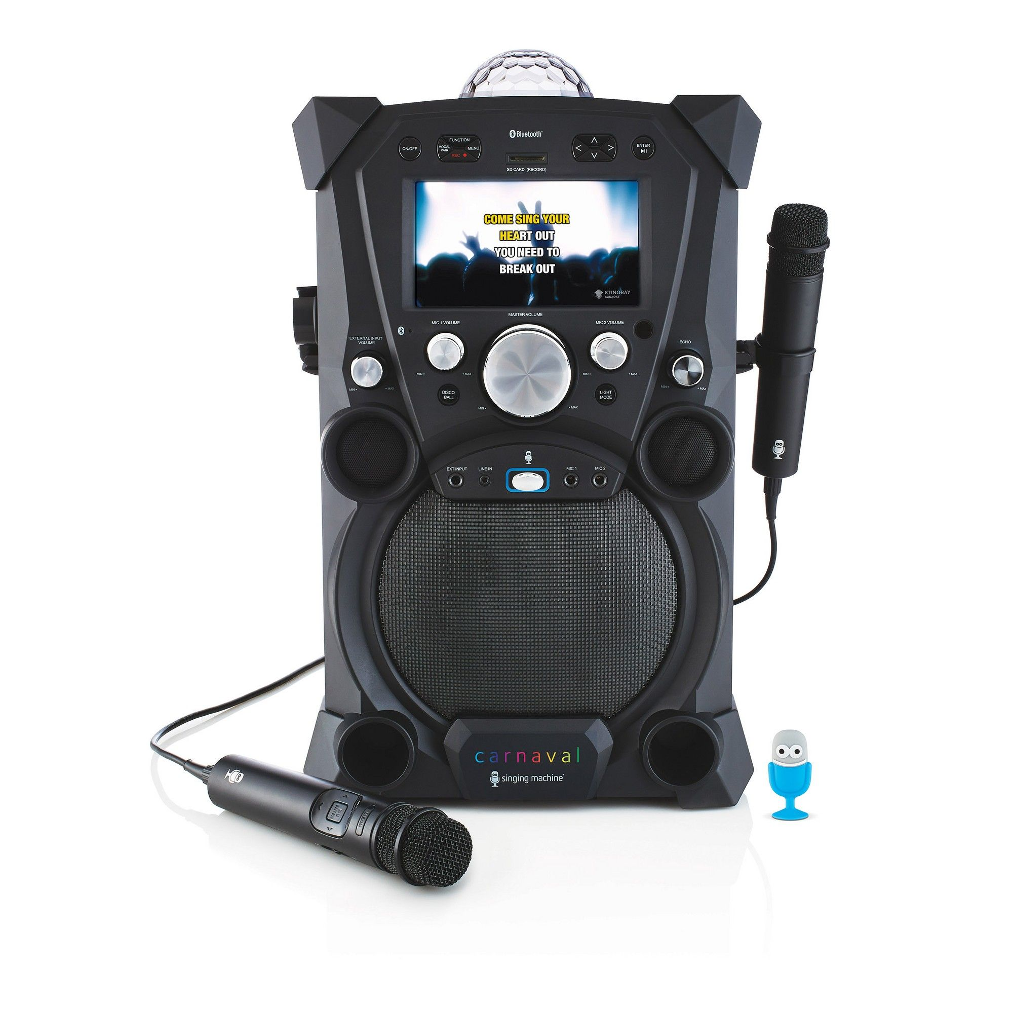 Singing Machine Fiesta Portable Hi-Def Karaoke System, Multi-Colored #karaokesystem