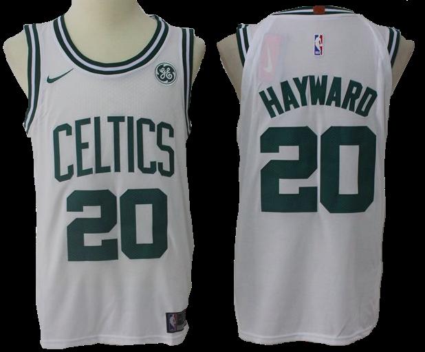 lowest price e25fe 69414 Boston Celtics Jersey - Gordon Hayward White Basketball ...