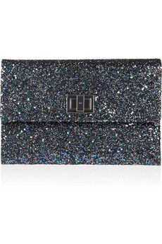 2a3bb4d696 Anya Hindmarch - glitter finished leather clutch