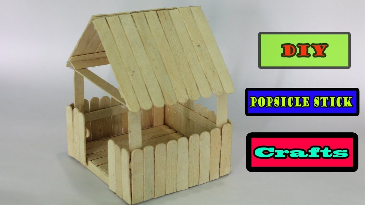 Popsicle Stick Crafts Miniature Relaxing Hut Made By Ice Cream