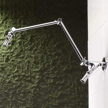 Shower Extended Arm Polished Brass Shower Head Extension