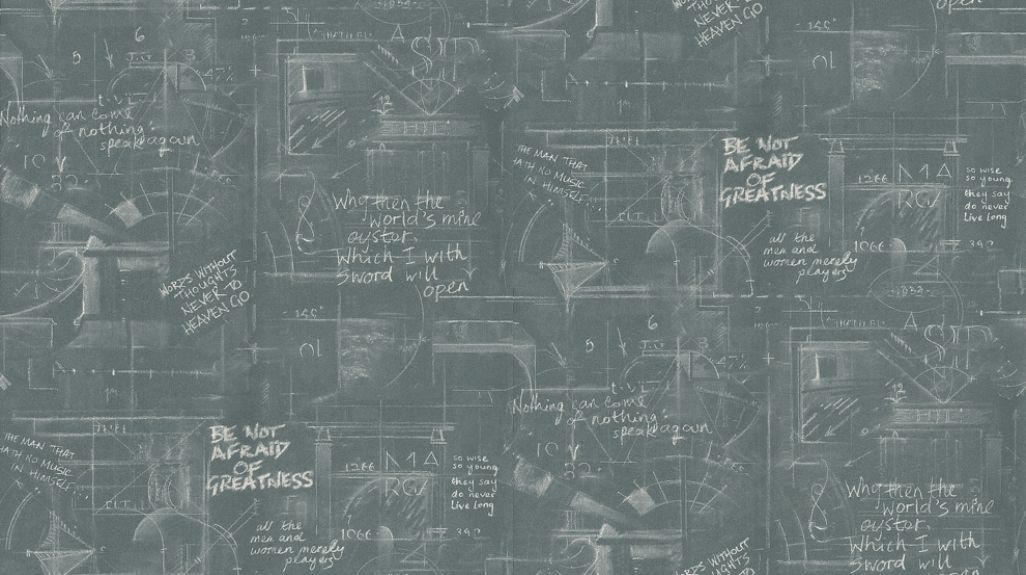 Oxford (OX01-CHARCOAL) - Andrew Martin Wallpapers - A chalkboard - sample quotations