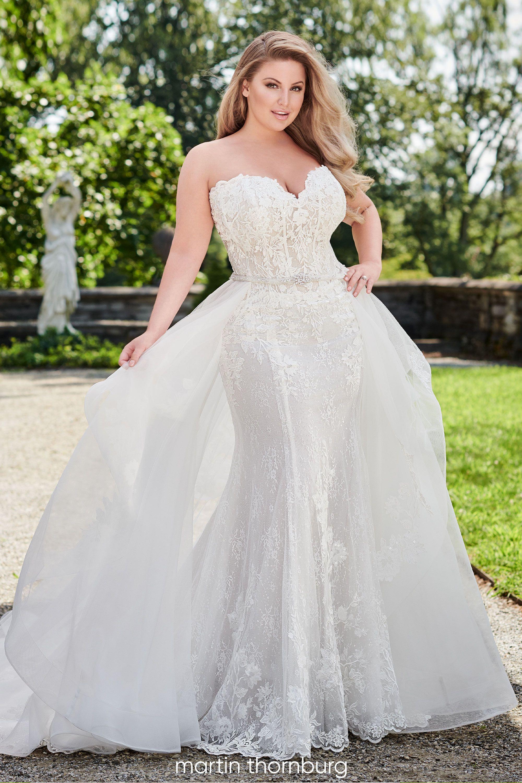 Willow 120242w Martin Thornburg Plus Size Wedding Gowns Plus Wedding Dresses Detachable Train Wedding Dress [ 3000 x 2000 Pixel ]