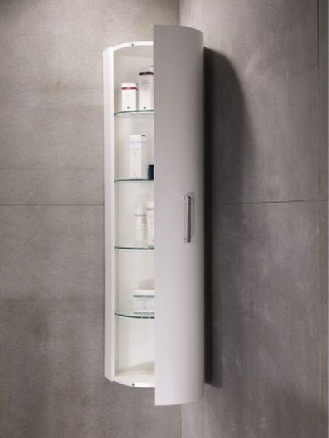 Corner bathroom wall cabinet bathrooms pinterest for Floor standing corner bathroom cabinet