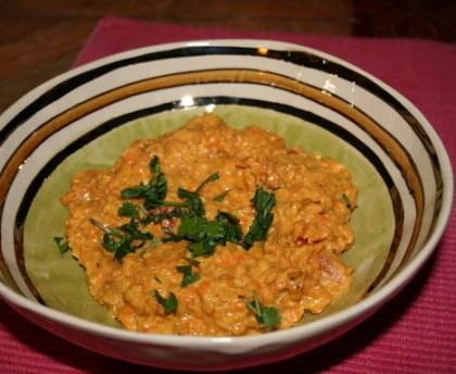 Lentilles corail à l'indienne