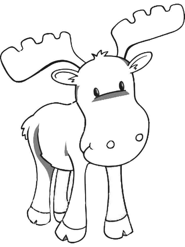 Baby Moose Coloring Pages In 2020 Moose Crafts Animal Coloring Pages Coloring Pages For Kids
