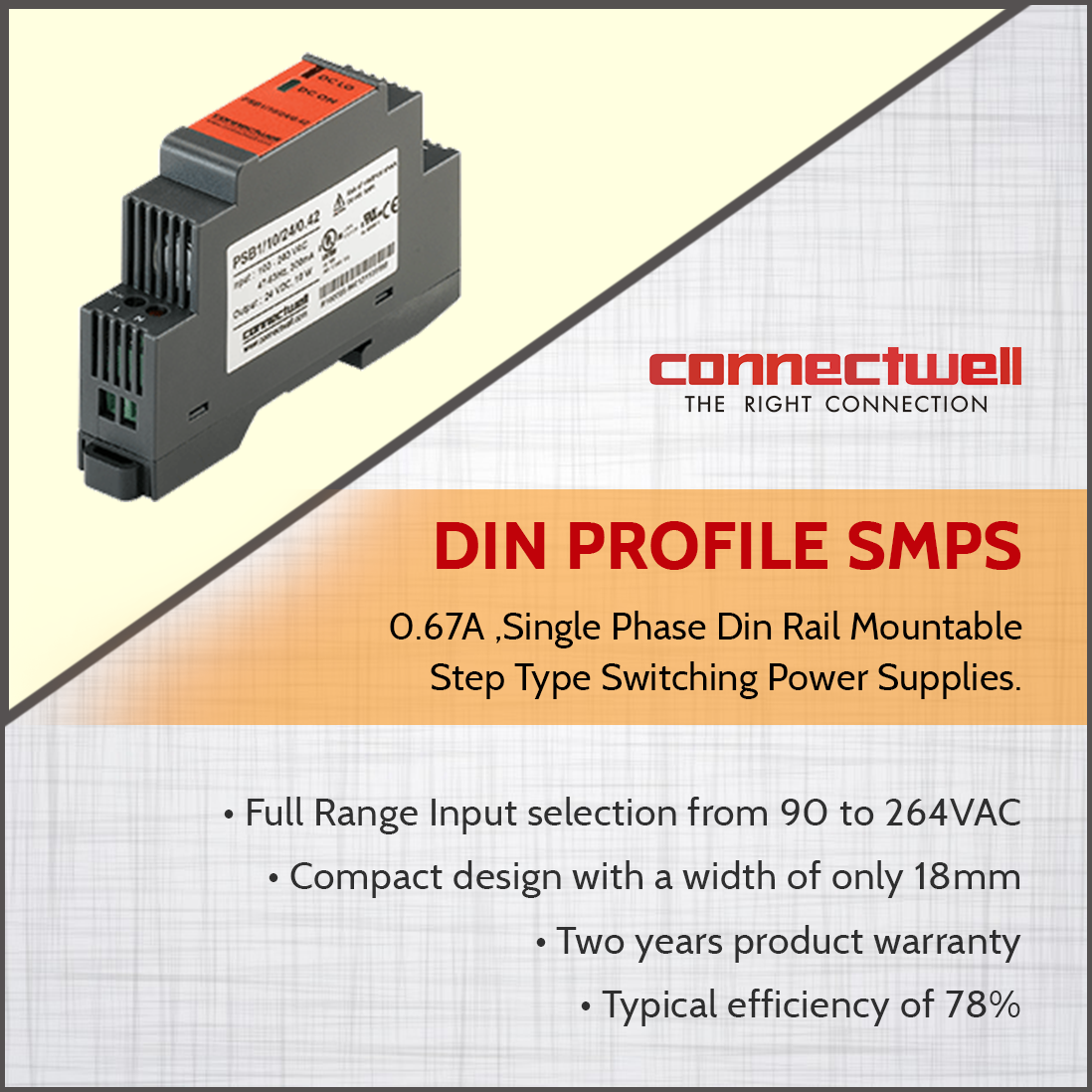 Product: Din Profile SMPS Switched-mode power supply or SMPS is an ...