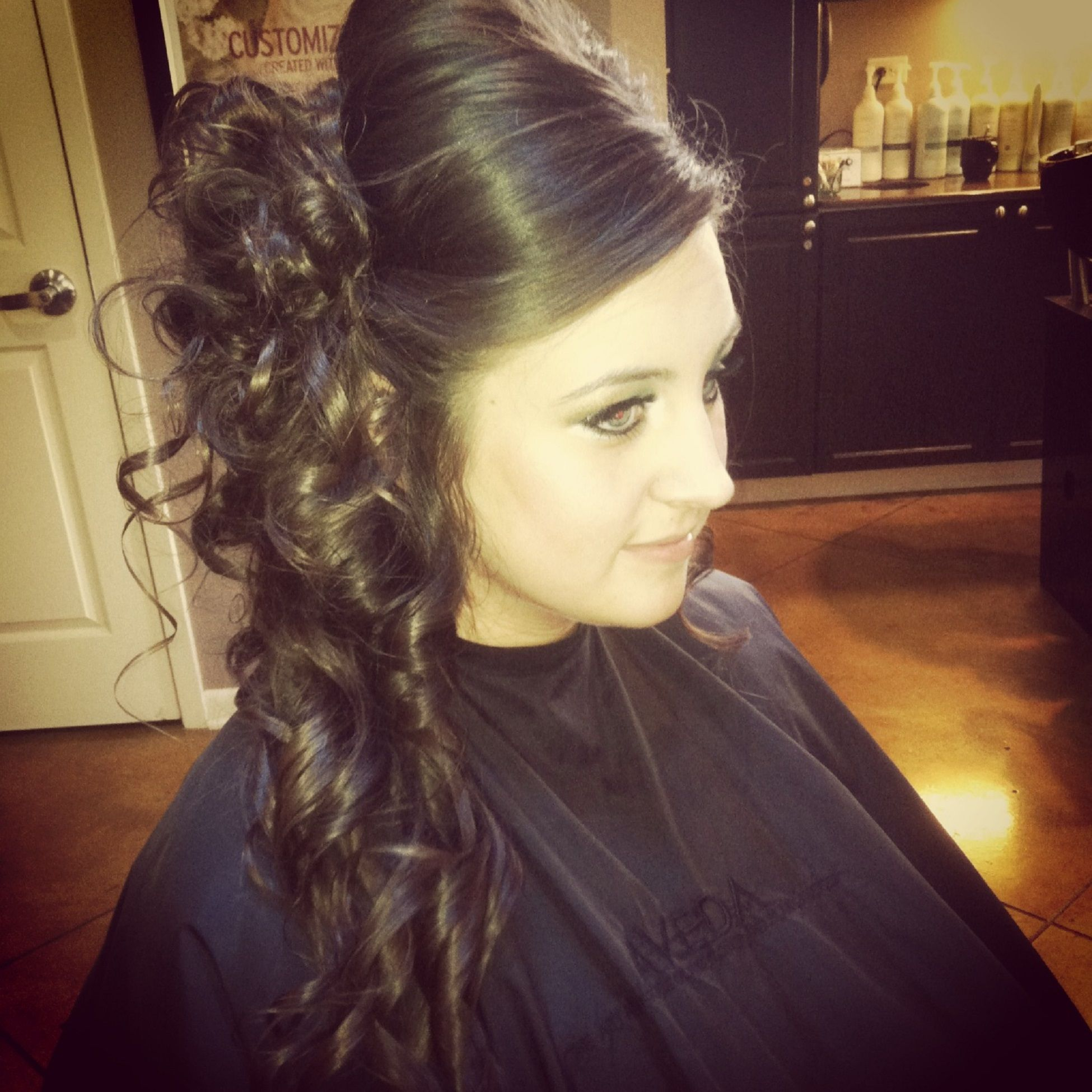 A wonderful prom up do by our very own Shannon!
