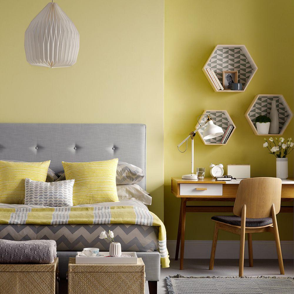 Bedroom Desk Ideas, Enhancing the Furniture Value  Yellow bedroom