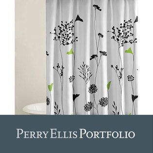Overstock Com Perry Ellis Asian Lilly Shower Curtain At Sears Com