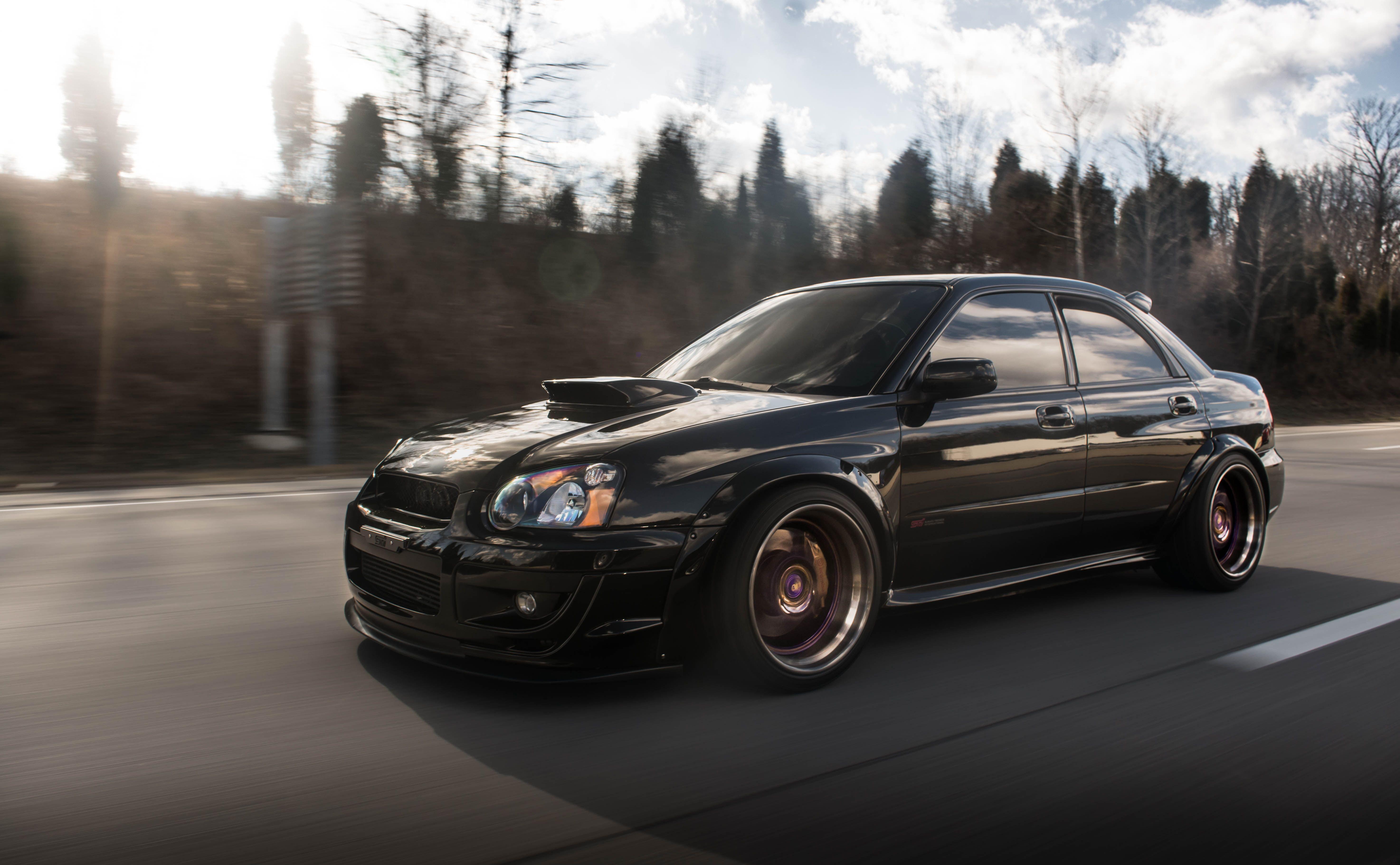 Subaru Impreza Subaru Impreza Wrx Sti Blobeye Black Car Grey Snow 5k Wallpaper Hdwallpaper Desktop Wrx Impreza Subaru Impreza Hd wallpaper subaru black car road