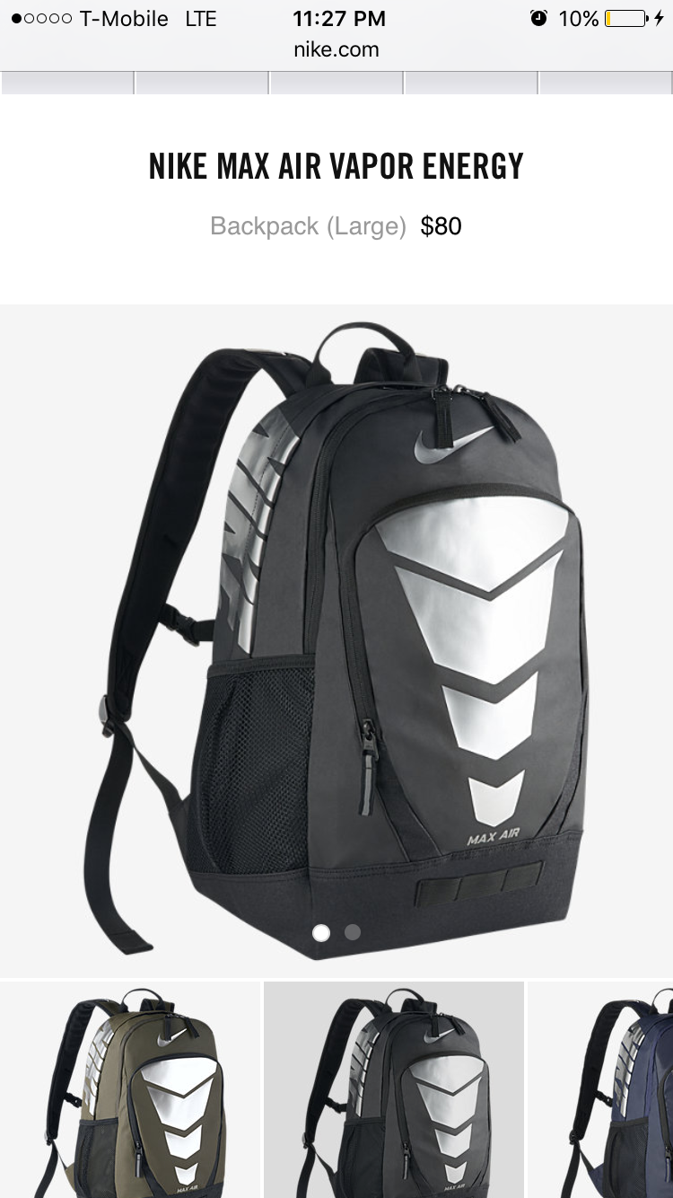 Nike Max Air Vapor Backpack ($70) ❤ liked on Polyvore Il mio  My