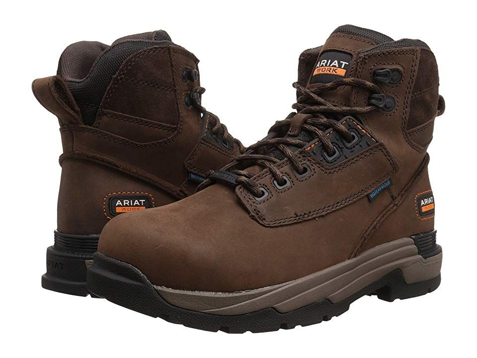 f97ec2d421a Ariat Mastergrip 6 H2O CT (Oily Distressed Brown CT) Men's Work Lace ...