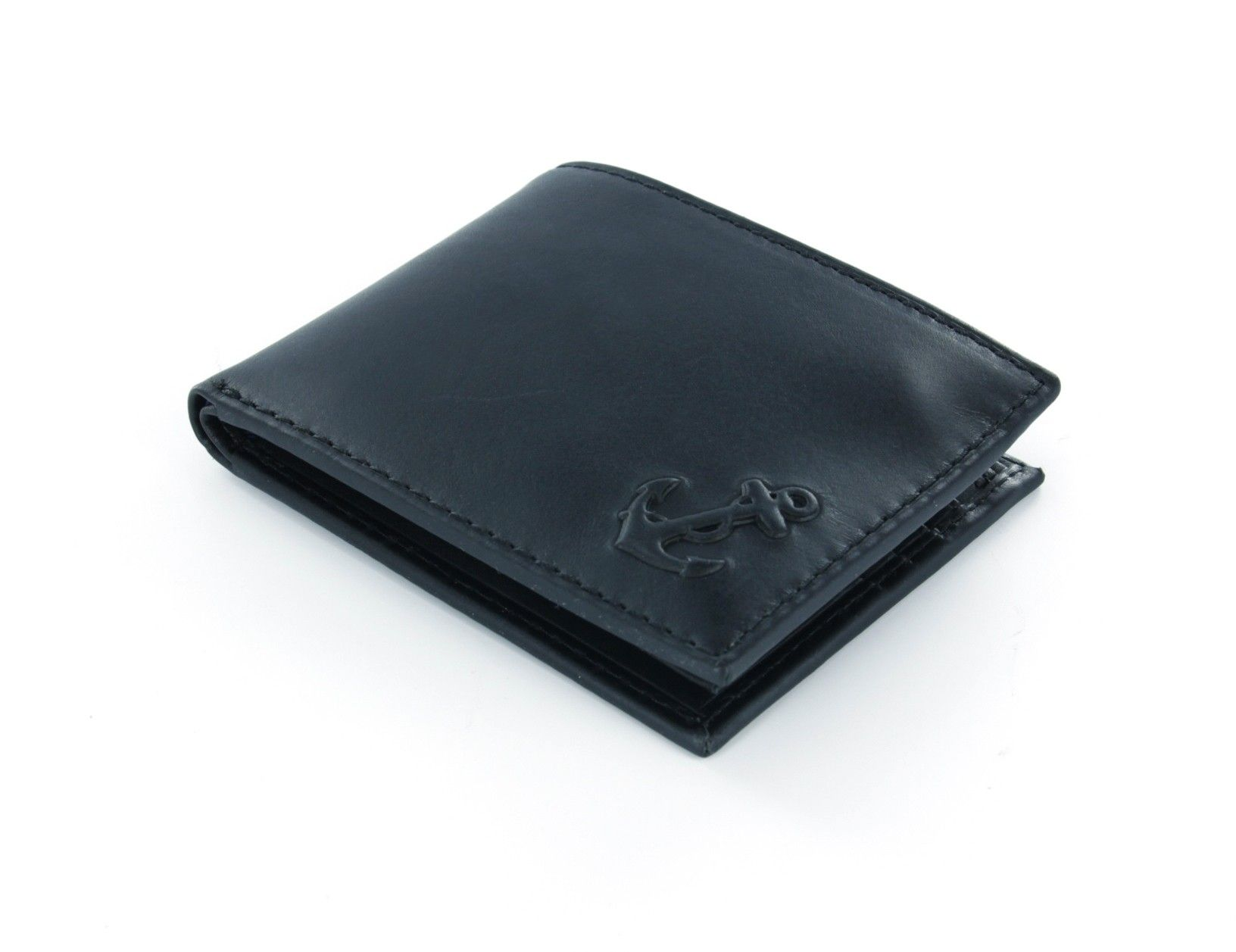 27 60 Nautica Black Leather Passcase Wallet With Anchor Emblem With Flip Id Window Nautica Menswallets Fathersdaygifts Wallet Black Leather Wallet Men