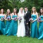Teal Bridesmaids dresses  #wedding #bridesmaids #dress #teal