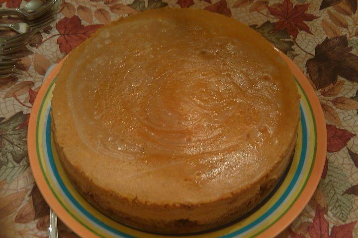 biscoff-pumpkin marbled cheesecake