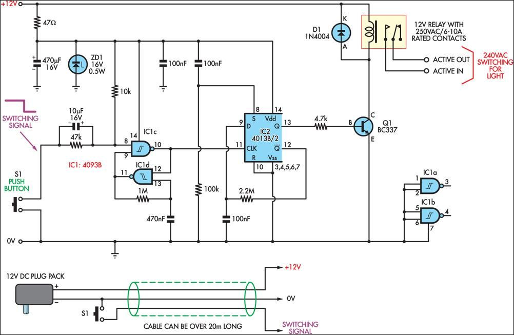 Low voltage remote mains switch circuit diagram ece electronic low voltage remote mains switch circuit diagram ece swarovskicordoba Image collections