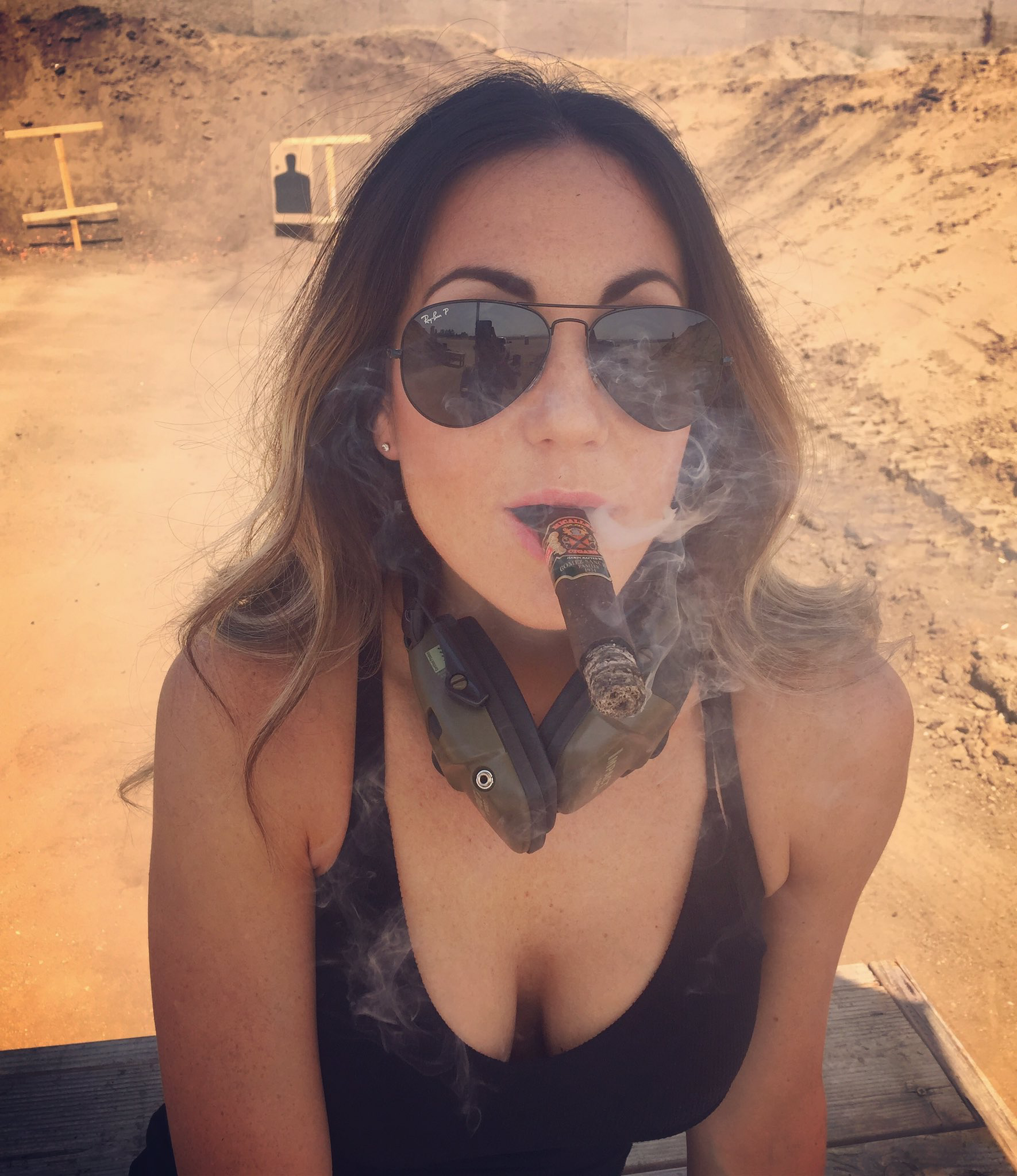 Milf enjoys a smoke