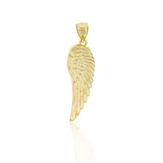 Charm America Gold Angel Wing Charm 10 Karat Solid Gold Etsy In 2020 Gold Angel Wings Angel Wing Charm Everyday Jewelry