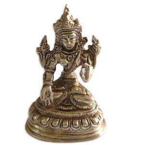 Buddhist Statues Buddha Tara Brass Metal Sculpture India Gift 7.62 x 5.08 x 3.81 Cms: Amazon.co.uk: Kitchen & Home