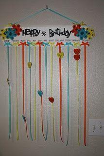 Birthday Board Mops General Craft Ideas Birthday Chart Classroom