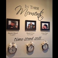 In These Moments Time Stood Still Custom Name For Special Date Quotes Wall Stickers Vinyl Family Lettering Wall Decals 601C & Pin by Mary Mother on holly graham | Pinterest | Living rooms ...