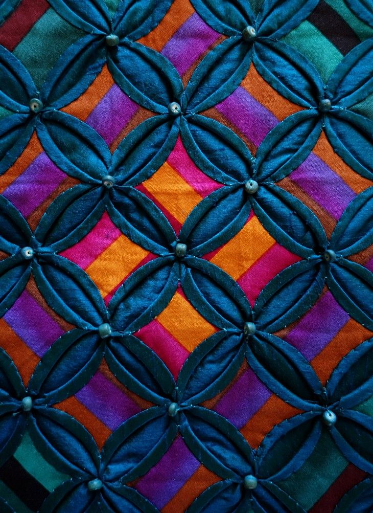 Silk Cathedral Windows Silk Quilt By Annabel Rainbow Uk