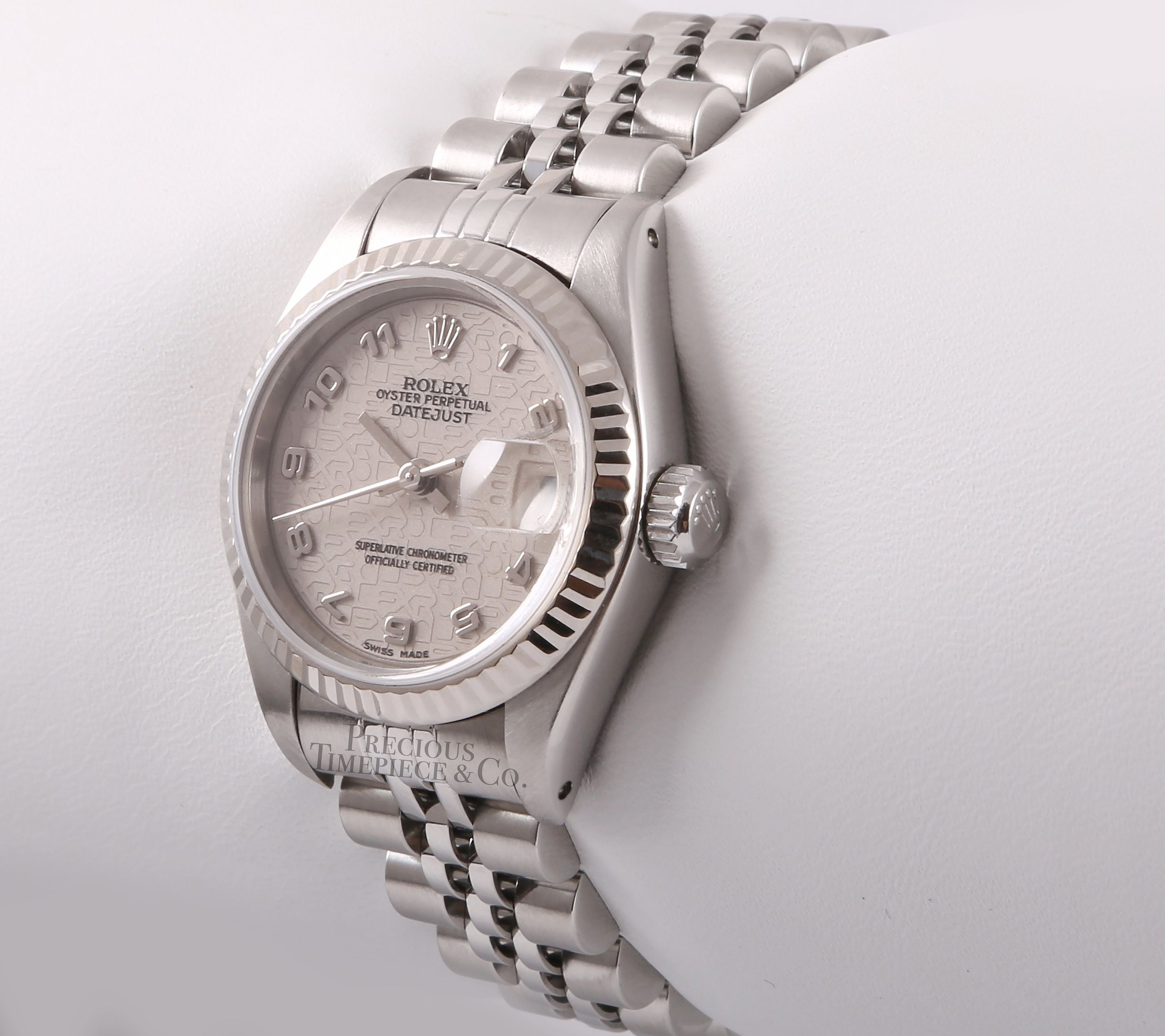 Rolex Lady 26mm Datejust Stainless Steel-18k Fluted Bezel-Ivory Jubilee Dial  #bezel #Datejust #fluted #ivory #Rolex #stainless #Steel #stainlesssteelrolex