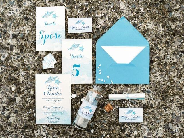 #wedding #marriage #matrimonio #italy #genoa #genova #bride #groom #sposa #sposo #pronovias #nautical #invitation #partecipazioni #sea #mare