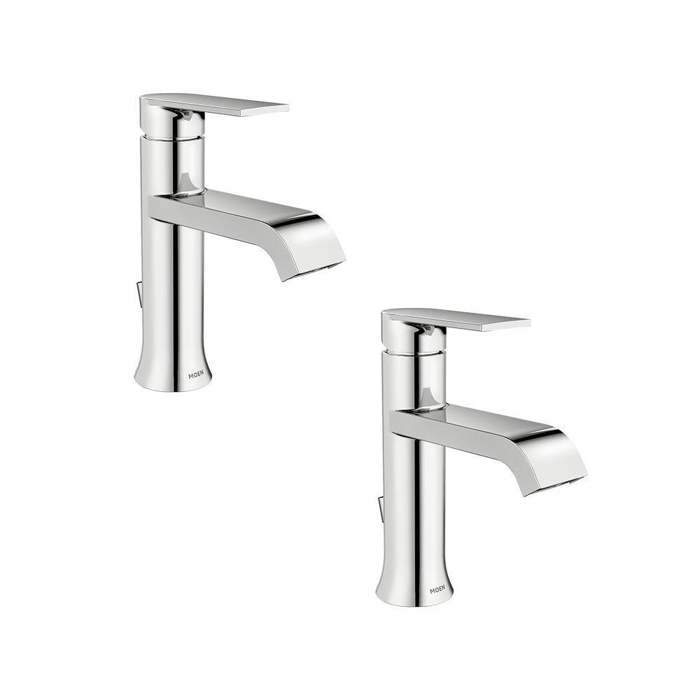 Moen Genta Single Hole Single Handle Bathroom Faucet In Chrome 2