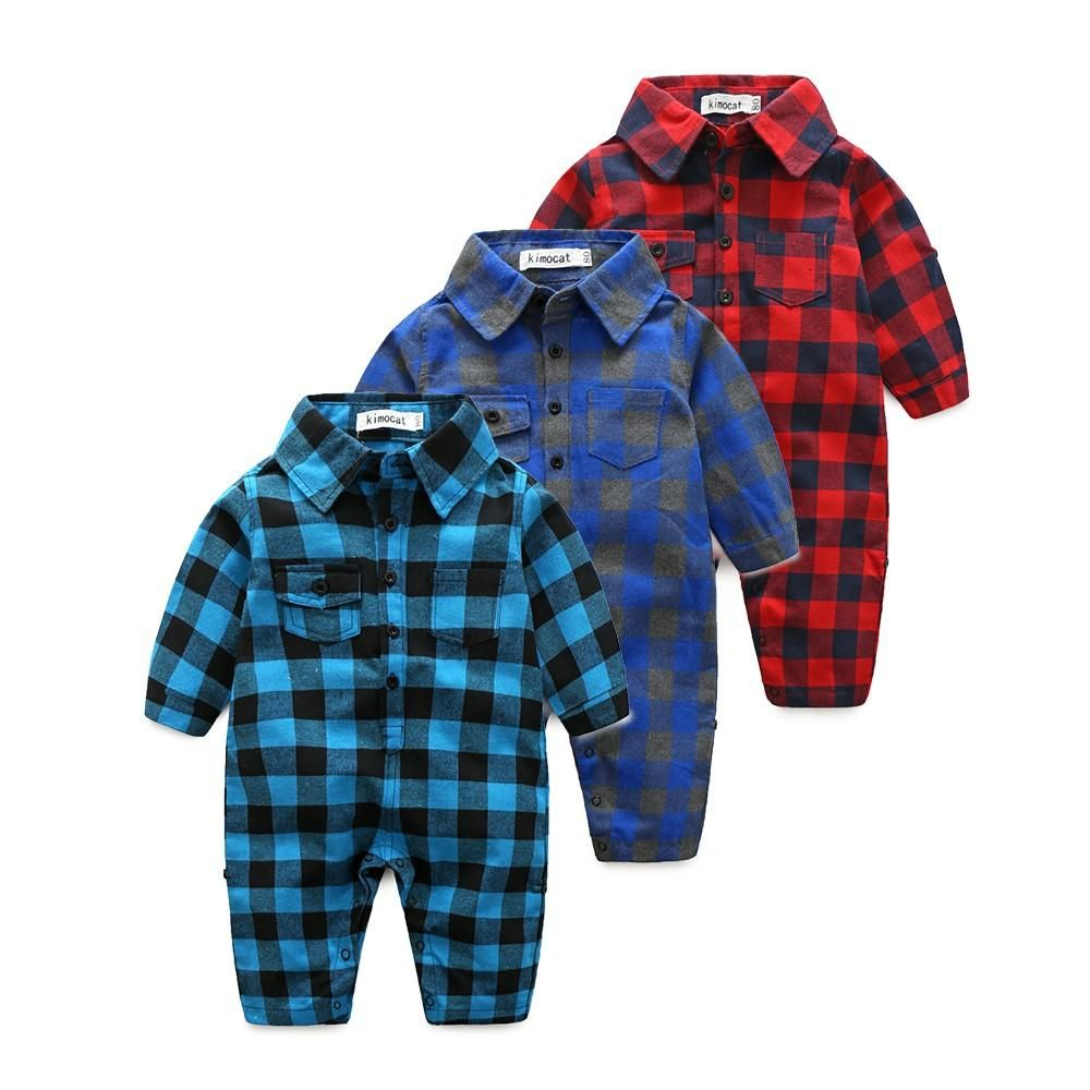 45913d2d3 Infant Boys Plaid Onesie Romper  flannel  onesie  childrensfashion ...