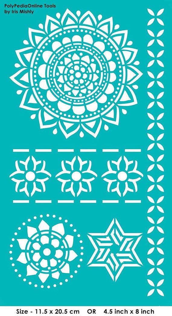 stencil mandala stencils pattern template reusable adhesive