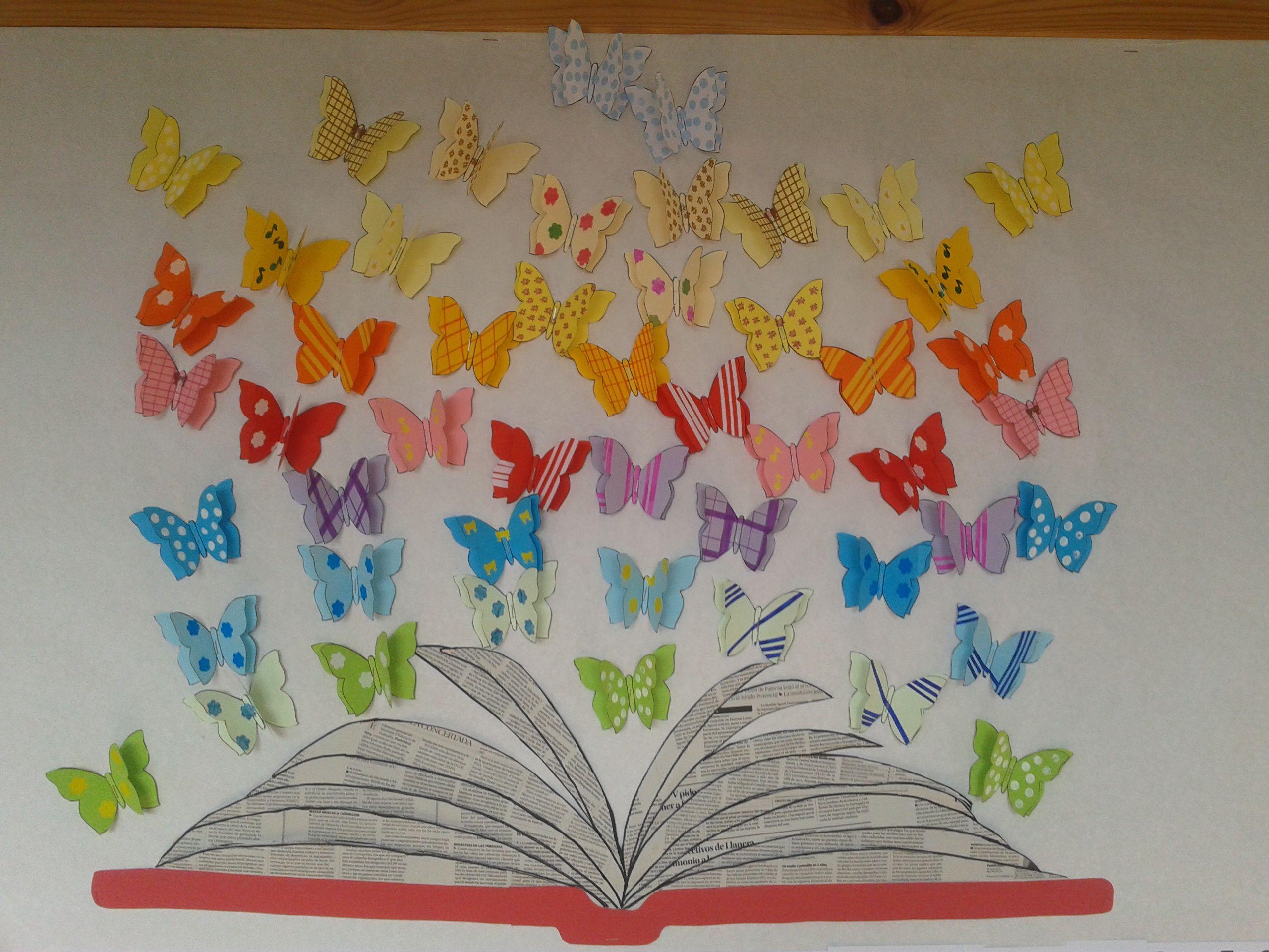 Detalle mural d a del libro dias especiales pinterest for Puertas decoradas para el dia del libro