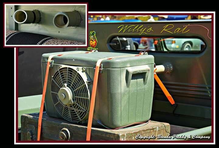 Ratrod air conditioner - fan in cooler
