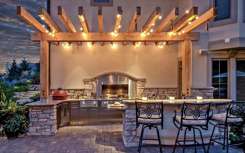 21 Insanely Clever Design Ideas For Your Outdoor Kitchen Outdoor Kitchen Lighting Outdoor Patio Lights Patio Design