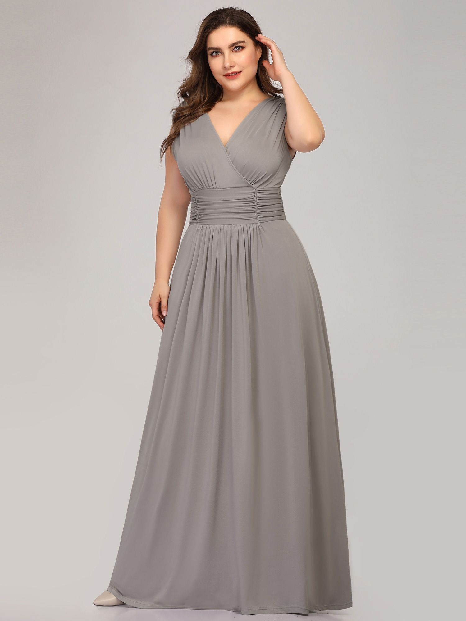 Ever-Pretty Women's Plus Size V Neck Sleeveless Wedding ...