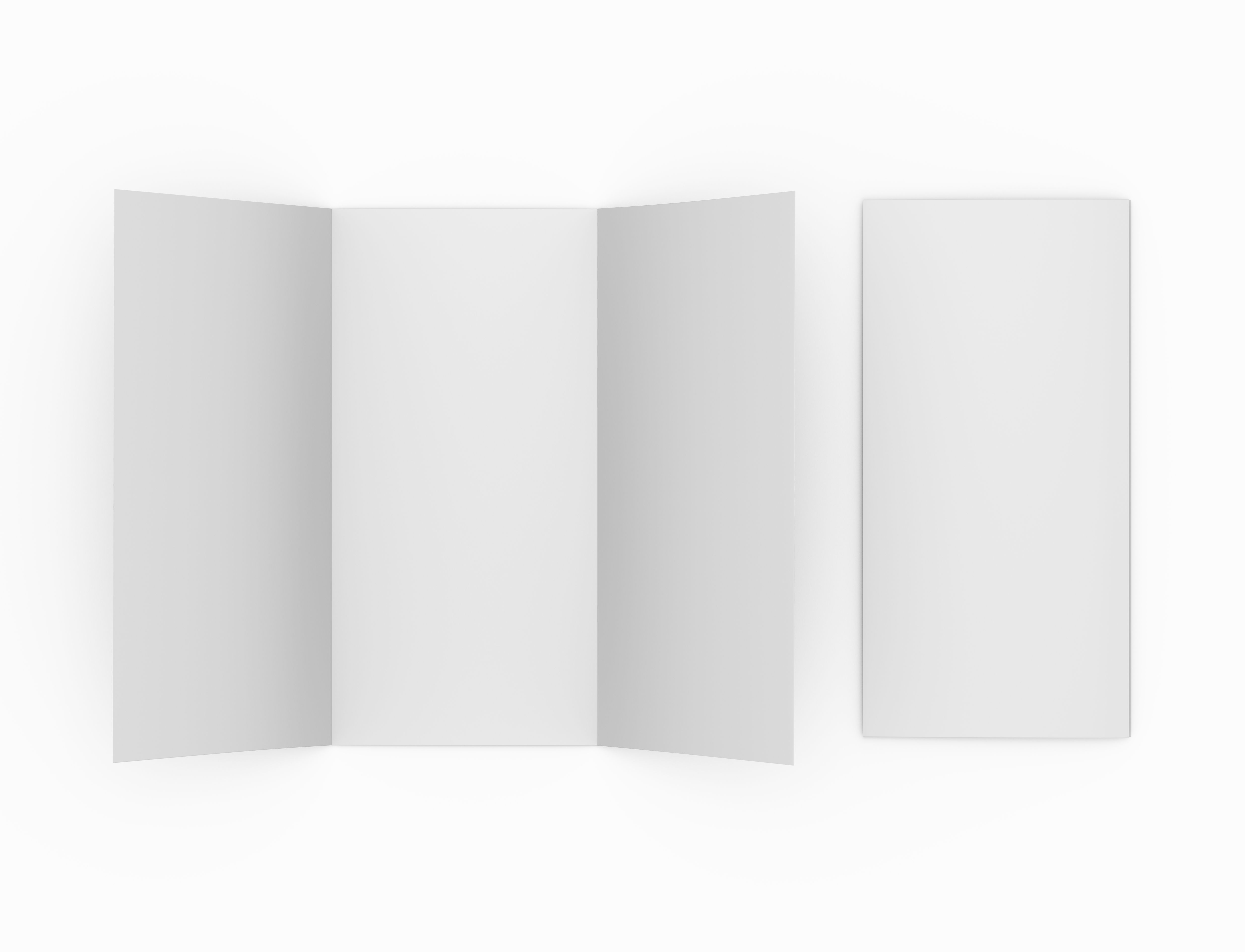 DL Tri Fold and Cover – Free Blank Tri Fold Brochure Templates