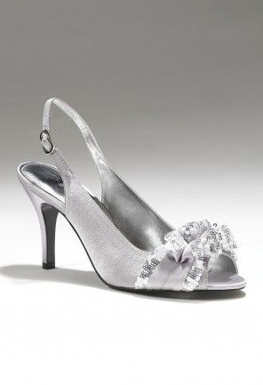 a16b092599d Touch of Nina mid heel rhinestone satin shoes at Camille La Vie - perfect  for prom